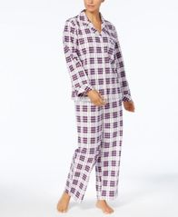 Image of Charter Club Printed Cotton Flannel Pajama Set, Created for Macy's