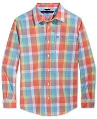 Image of Tommy Hilfiger Plaid Shirt, Big Boys