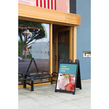 Staples Article: Promote your business and build your brand with custom sign solutions. Thumbnail