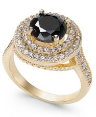 Image of Charter Club Gold-Tone Crystal Halo Ring, Created for Macy's