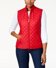 Image of Karen Scott Quilted Puffer Vest, Created for Macy's