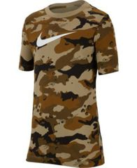 Image of Nike Big Boys Camo-Print Cotton T-Shirt