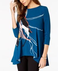 Image of Alfani Printed Swing Top, Created for Macy's