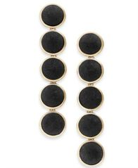 Image of I.N.C. Gold-Tone Fabric Button Drop Earrings, Created for Macy's