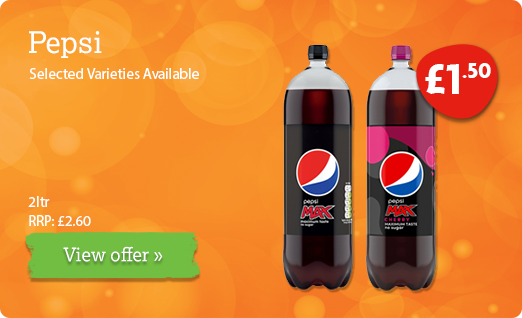 Pepsi offer available until 14th July