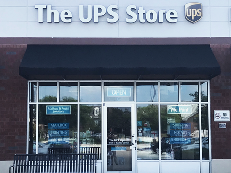 front of the ups store at 314 S Henderson Rd