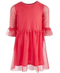 Image of Epic Threads Little Girls Heart-Mesh Dress, Created for Macy's