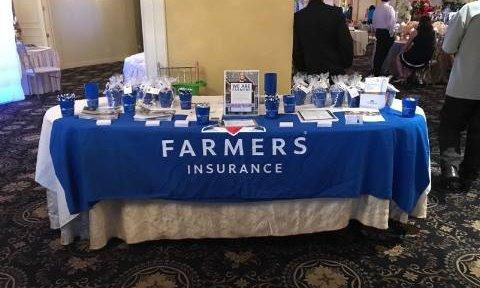 A Farmers booth at a conference