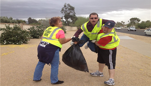 "Our Agency helping ""Keep Scottsdale Beautiful"" while having fun in Phoenix, AZ."