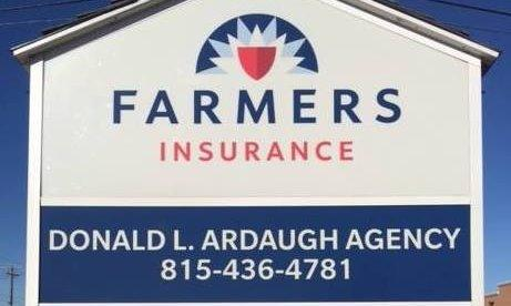 Farmers Insurance Donald Ardaugh Agency Sign