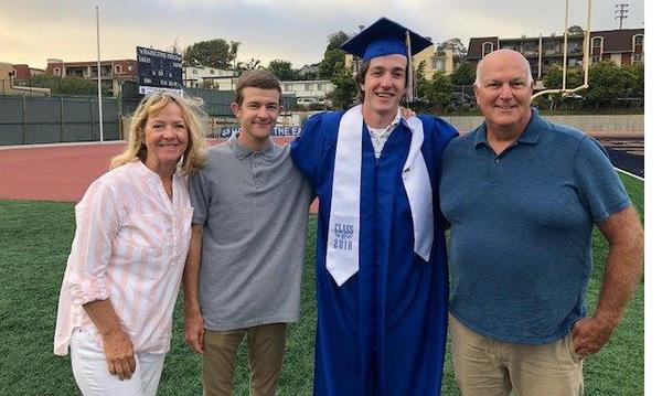 Cole Graduation ESHS 2018, Celebrating Cole's graduation with Brenda and Conor.