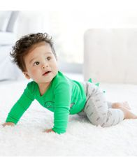 Image of Carter's Baby Boys 3-Pc. Dino-Print Cotton Bodysuits & Pants Set