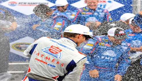 Nascar and Farmers® celebrate