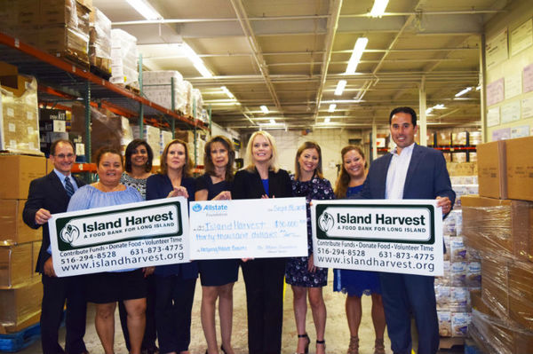 Michael Feld - Allstate Foundation Helping Hands Grant for Island Harvest