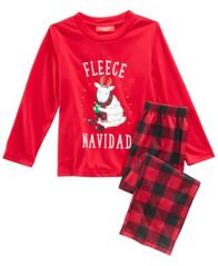 Image of Matching Family Pajamas Fleece Navidad Pajama Set, Available in Toddlers and Kids, Created For Macy'