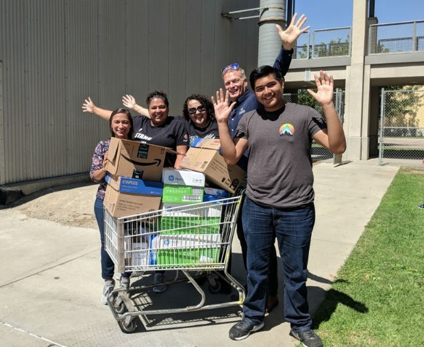 Patrick Chon - Donating Supplies to Cabrillo High School