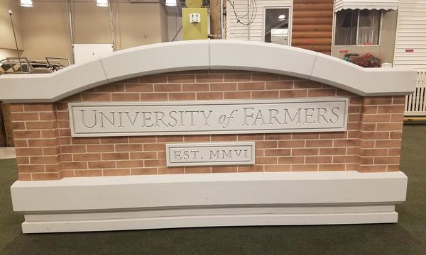 Farmers University Brick Monument Sign