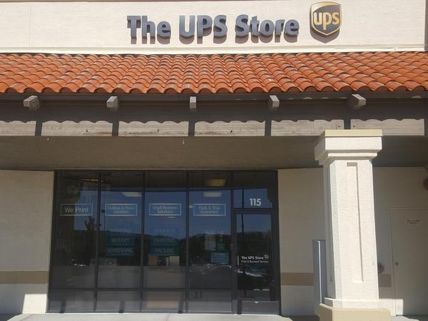 front of the ups store at 10580 N McCarran Blvd