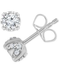Image of TruMiracle® Pavé Diamond Stud Earrings (3/4ct. t.w.) in 14k White Gold