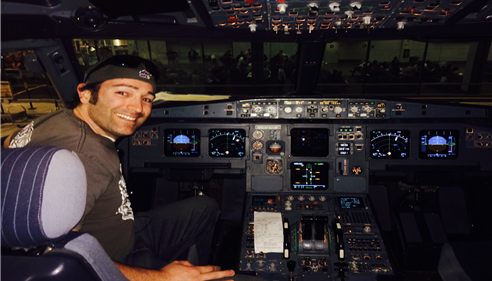 My son Jason in the pilot seat!