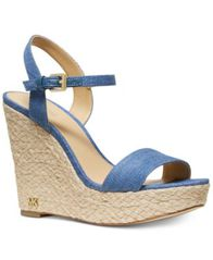 Image of MICHAEL Michael Kors Jill Espadrille Wedge Sandals
