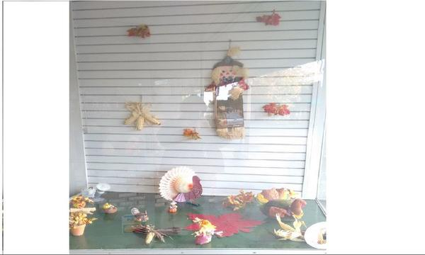 Fall Decorations 2016 Close-up of right window