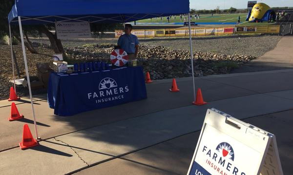 Farmers booth at a local football game