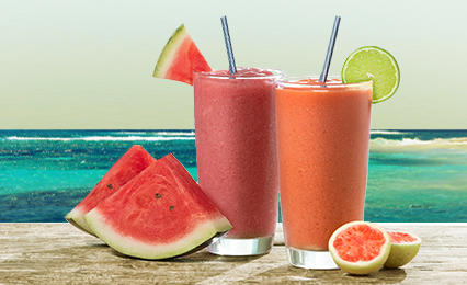 Watermelon Mojito™ and NEW Guava Margarita Smoothies