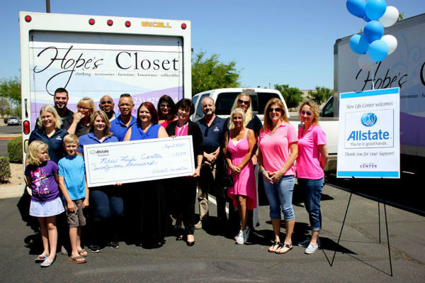 Christine Morrow - New Life Center Receives Allstate Foundation Helping Hands Grant