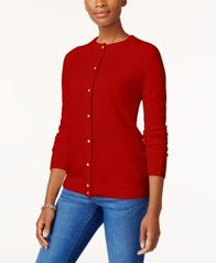 Image of Karen Scott Luxsoft Crew-Neck Cardigan, Created for Macy's