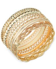 Image of GUESS Textured Bangle Bracelet Set