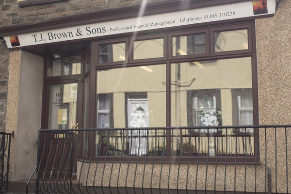 T. J. Brown & Sons Funeral Directors in Abertillery, Gwent.