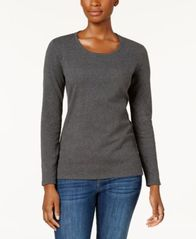 Image of Style & Co Scoop-Neck Top, Created for Macy's