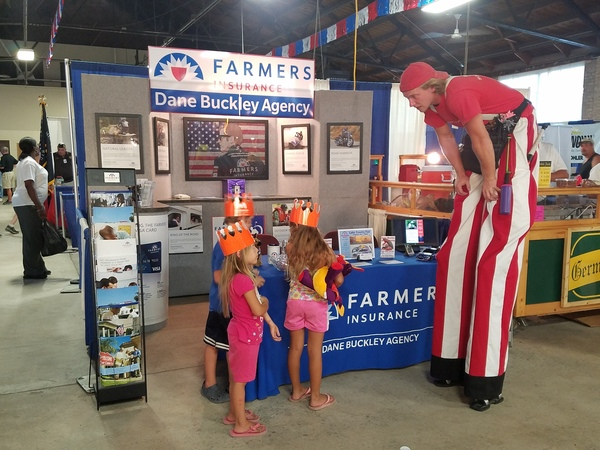 Farmers® Insurance booth at the Lake County Fair.