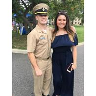 Matthew plays football for the United States Merchant Marine Academy and Katlynn proudly serves in the United States Navy!