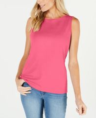 Image of Karen Scott Boat-Neck Cotton Tank Top, Created for Macy's