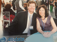 David and Amy at the Allstate Honor Ring Event in NYC