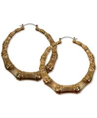 Image of GUESS Bamboo Hoop Earrings