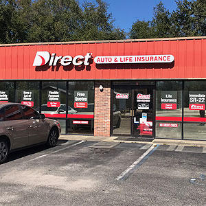 Front of Direct Auto store at 3108 West Tennessee Street, Tallahassee