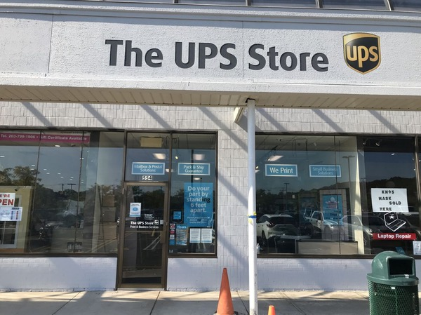 Storefront of The UPS Store in Orange, CT