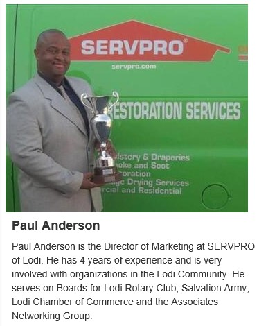 Paul Anderson, Director of Marketing, of ServPro of Lodi.