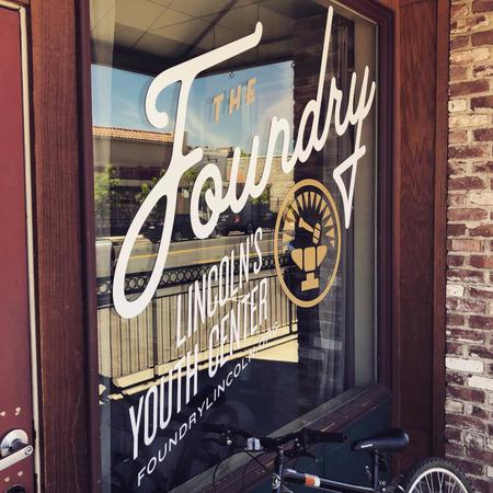 The Foundry Youth Center sign
