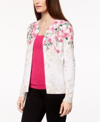 Image of Karen Scott Printed Cardigan, Created for Macy's