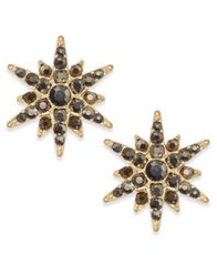 Image of INC International Concepts Gold-Tone Pavé Starburst Earrings, Created for Macy's
