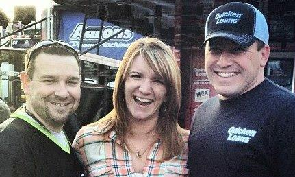 Agent Brannon, his wife and NASCAR driver Ryan Newman