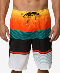 "Image of O'Neill Men's Lennox Striped 21"" Board Shorts"