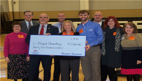 We were able to award Prospect Elementary $2500 to Thank Americas Teachers