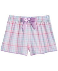Image of Max & Olivia Big Girls Printed Pajama Shorts, Created for Macy's