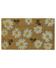 "Image of Bacova Daisy Bee Toss 18"" x 30"" Doormat"