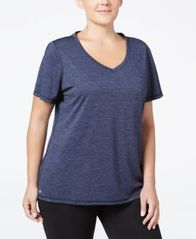 Image of Ideology Plus Size Rapidry V-Neck Performance T-Shirt, Created for Macy's